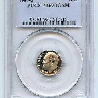1983 S 10C Roosevelt Dime Proof PCGS PR69DCAM coin