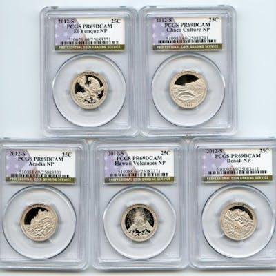 2012 S Clad National Parks Quarter Set PCGS PR69DCAM coin