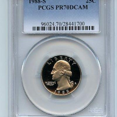 1988 S 25C Washington Quarter Proof PCGS PR70DCAM coin