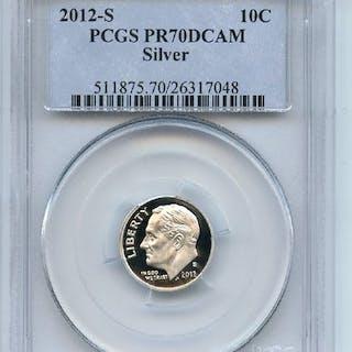 2012 S 10C Silver Roosevelt Dime PCGS PR70DCAM