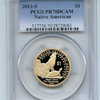 2013 S $1 Sacagawea Dollar PCGS PR70DCAM coin