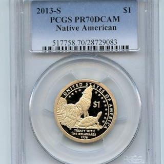 2013 S $1 Sacagawea Dollar PCGS PR70DCAM