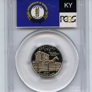 2001 S 25C Clad Kentucky Quarter PCGS PR70DCAM coin