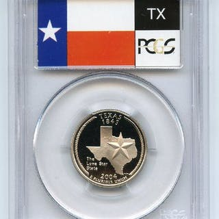 2004 S 25C Clad Texas Quarter PCGS PR70DCAM coin