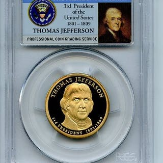 2007 S $1 Thomas Jefferson Dollar PCGS PR70DCAM