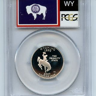 2007 S 25C Silver Wyoming Quarter PCGS PR70DCAM