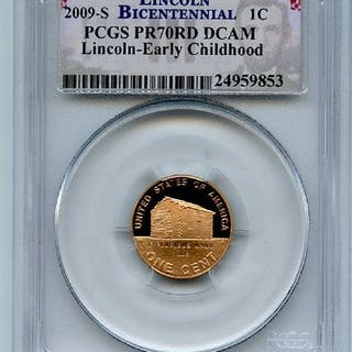 2009 S 1C Lincoln Early Childhood Cent PCGS PR70DCAM coin