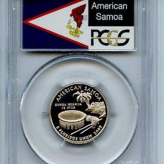 2009 S 25C Clad American Samoa Quarter PCGS PR70DCAM