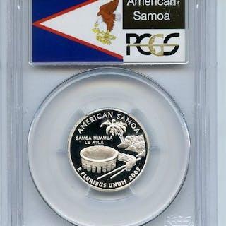 2009 S 25C Silver American Samoa Quarter PCGS PR70DCAM