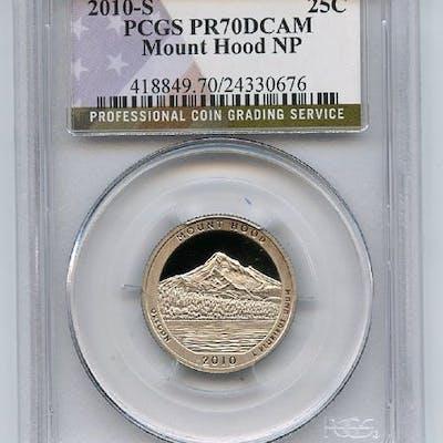 2010 S 25C Clad Mount Hood Quarter PCGS PR70DCAM coin
