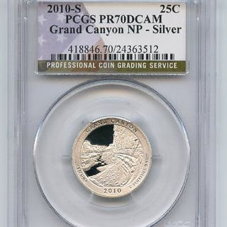 2010 S 25C Silver Grand Canyon Quarter PCGS PR70DCAM