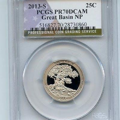 2013 S 25C Clad Great Basin Quarter PCGS PR70DCAM coin