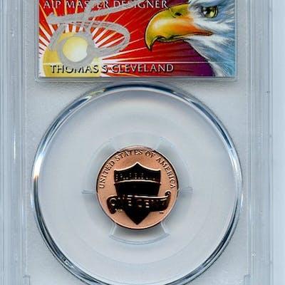 2019 W 1C Lincoln Cent Reverse Proof PCGS PR70 FDOI Thomas Cleveland Eagle coin