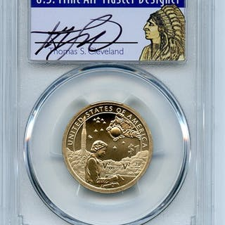 2019 P $1 Sacagawea Dollar Coin Currency Pos B PCGS SP70 Thomas Cleveland