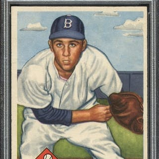 1953 TOPPS 174 BILLY LOES PSA EX-MT 6
