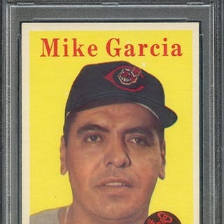 1958 TOPPS 196 MIKE GARCIA PSA NM-MT 8