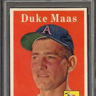 1958 TOPPS 228 DUKE MAAS PSA NM 7