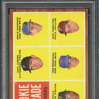 1962 TOPPS 593 ROOKIE PARADE PITCHERS PSA EX-MT 6