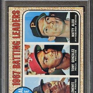 1968 TOPPS 1 NL BATTING LEADERS PSA NM 7
