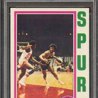 1974 TOPPS 186 JAMES SILAS PSA NM-MT 8