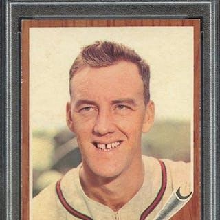 1962 TOPPS 174 CARL WILLEY NO CAP PSA EX-MT 6