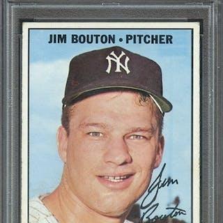 1967 TOPPS 393 JIM BOUTON PSA EX 5