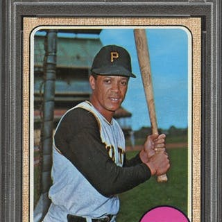 1968 TOPPS 175 MAURY WILLS PSA MINT 9