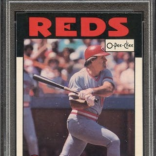 1986 O-PEE-CHEE 1 PETE ROSE PSA NM 7
