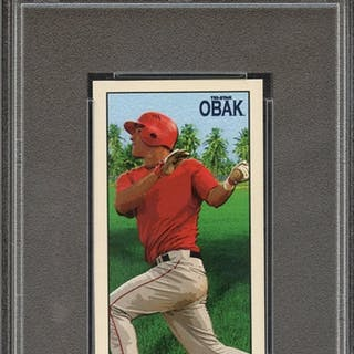 2010 TRISTAR OBAK MINI 31st NATIONAL-PROMO N28 MIKE TROUT PSA GEM MT 10