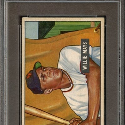 1951 BOWMAN 305 WILLIE MAYS RC PSA VG-EX 4 coin