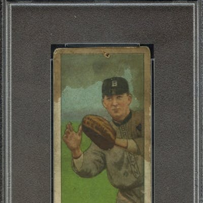 1909-11 T206 POLAR BEAR BILL BERGEN CATCHING PSA PR 1 coin