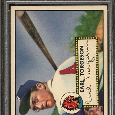 1952 TOPPS 97 EARL TORGESON PSA NM-MT 8 coin