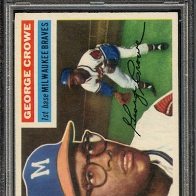 1956 TOPPS 254 GEORGE CROWE PSA NM 7 coin
