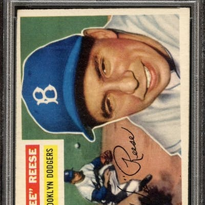 1956 TOPPS 260 PEE WEE REESE PSA EX-MT 6 coin