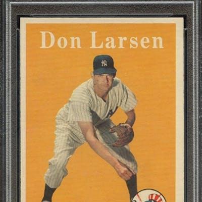 1958 TOPPS 161 DON LARSEN PSA EX-MT 6 coin