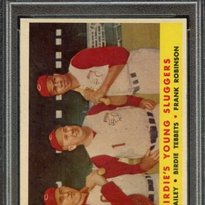 1958 TOPPS 386 BIRDIE'S YOUNG SLUGGERS PSA NM 7 coin