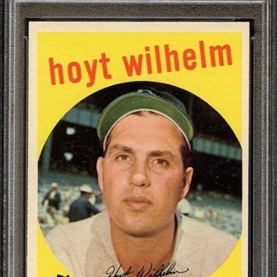 1959 TOPPS 349 HOYT WILHELM PSA EX-MT 6 coin