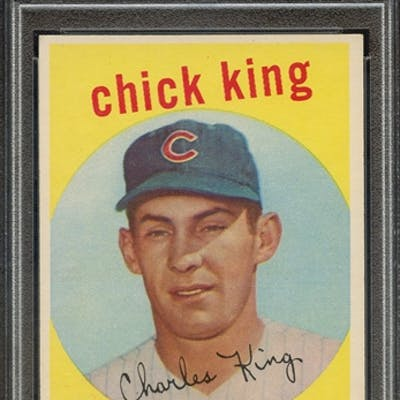 1959 TOPPS 538 CHICK KING PSA EX-MT 6 coin