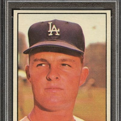 1961 TOPPS 260 DON DRYSDALE PSA NM-MT 8 coin