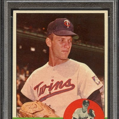 1963 TOPPS 246 LEE STANGE PSA NM-MT 8 coin