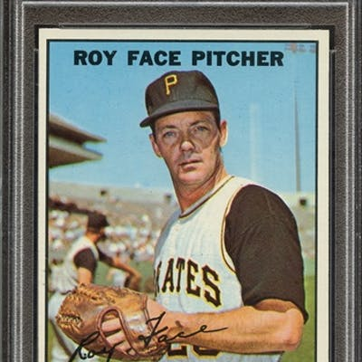 1967 TOPPS 49 ROY FACE PSA NM-MT 8 coin