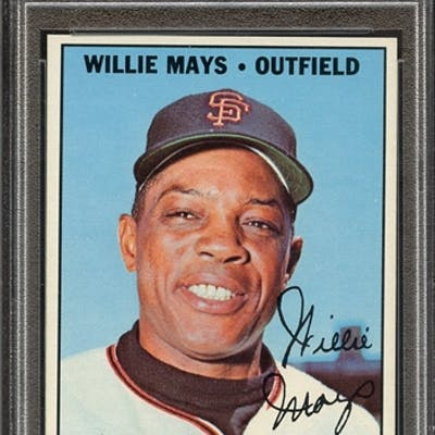 1967 TOPPS 200 WILLIE MAYS PSA NM-MT 8 coin