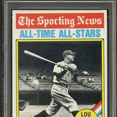 1976 TOPPS 341 LOU GEHRIG ALL TIME ALL-STAR PSA NM-MT 8 coin
