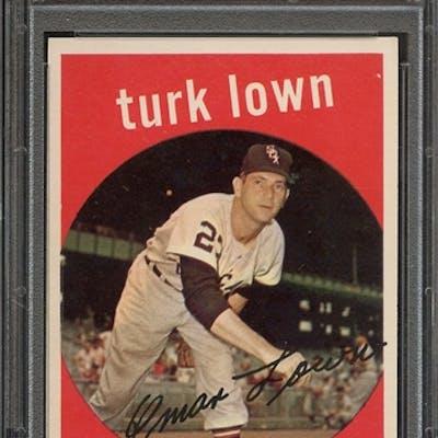 1959 TOPPS 277 TURK LOWN PSA NM-MT 8 coin