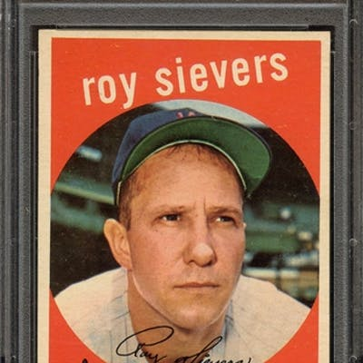 1959 TOPPS 340 ROY SIEVERS PSA NM-MT 8 coin