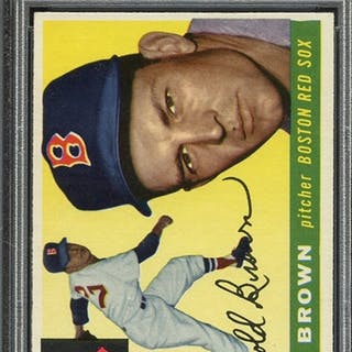1955 TOPPS 148 HAL BROWN PSA NM 7 coin