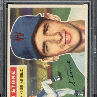 1956 TOPPS 87 DEAN STONE WHITE BACK PSA NM-MT 8 coin