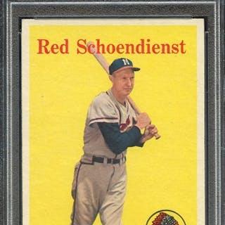 1958 TOPPS 190 RED SCHOENDIENST PSA EX-MT 6 coin