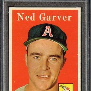 1958 TOPPS 292 NED GARVER PSA NM-MT 8 coin