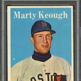 1958 TOPPS 371 MARTY KEOUGH PSA NM 7 coin